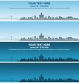detroit skyline event banner vector image