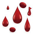 drops of blood vector image