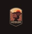 emblem patch logo canyonlands national park vector image vector image
