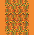ethnic seamless pattern cloth kente vector image vector image