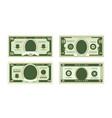 fake dollars banknotes vector image vector image