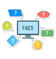 faq service minimalistic icons with question marks vector image