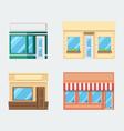 flat design front shop set vector image vector image
