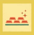flat shading style icon gold bullion vector image
