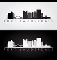 fort lauderdale usa skyline and landmarks vector image vector image