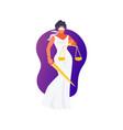 goddess themis vector image