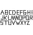 graphic black silhouette bone alphabet type vector image vector image