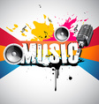 grunge style music background vector image vector image