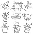 hand draw circus element doodles vector image vector image