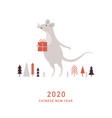 happy new year 2020 year rat vector image