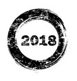 happy new year black round grunge stamp on white vector image vector image