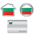 Home icon on the Bulgarian flag vector image vector image