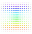 infinity icon halftone spectral effect vector image