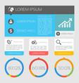 international business infographics vector image vector image