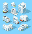 isometric industrial buildings offices and vector image