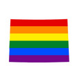 lgbt flag map of colorado rainbow map of in vector image