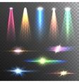 Light Beams Color on Black composition vector image