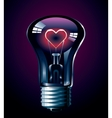 Love glow vector image