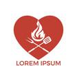 love grill logo design concept vector image vector image