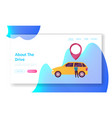 male character use car sharing service landing vector image
