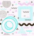 memphis seamless pattern line art design vector image vector image