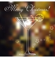 Merry christmas coctail on a background vector image vector image