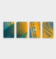 minimal cover collection design halftone yellow vector image vector image