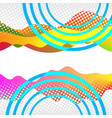 modern abstract art collage with place for your vector image