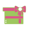 nice present gift to merry christmas celebration vector image vector image