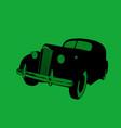 nostalgia old car noir style vector image vector image