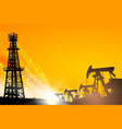 oil field over sunset vector image
