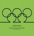 outline background rings with text olympic card t vector image