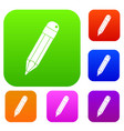 pencil set color collection vector image vector image