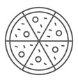 pizza thin line icon italian and food fast food vector image vector image