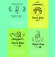 posters for international peace day vector image vector image