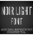 Retro Movie Font vector image