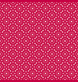 seamless pattern red and white floral ornament vector image