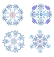 Set circular floral ornaments patterns vector image