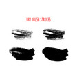 set isolated hand drawn dry brush vector image