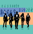 several groups of people vector image vector image