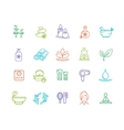 Spa Outline Color Icon Set vector image vector image