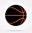 stealth inverted black and orange basketball vector image