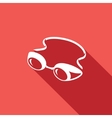 Swimming goggles icon vector image vector image