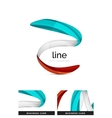 Swirl wavy ribbon abstract concept vector image vector image