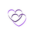 valentines day heart cartoon vector image vector image