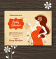 Vintage baby shower invitation vector image vector image
