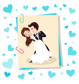 wedding couple dancing bride and groom vector image vector image