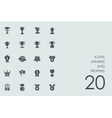 Set of awards and trophies icons vector image