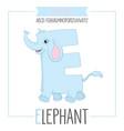 alphabet letter e and elephant vector image
