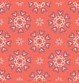 1950s style retro floral polka dot seamless vector image vector image